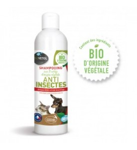 Shampooing anti-insectes...