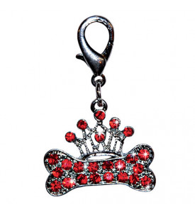 Pendentif os/couronne strass